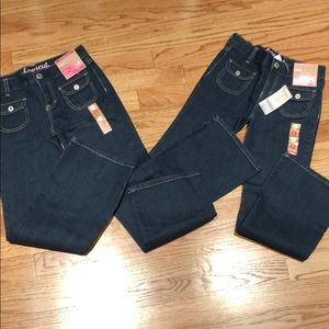 NWT Lot of 2 Gymboree boot cut jeans size 8